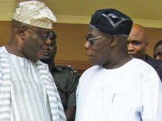 Atiku Abubakar Publicly Kneels Down to Greet Former President, Olusegun Obasanjo