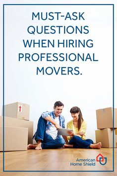 Help eliminate the stress of hiring movers by knowing the essential questions to ask to get the answers you need. Home Shield, Free Move, Professional Movers, Essential Questions, What If Questions, Moving Tips, Real Estate Tips, Ahs, Stress Free