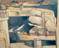 'The Ship Comes In', 1931 by John Duncan Fergusson.