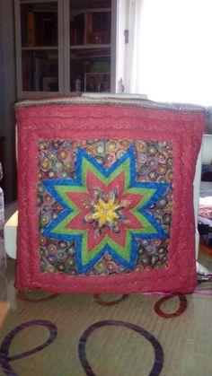 Bolso estrella de 8 puntas patchwork