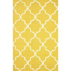 Bring breezy Moroccan inspiration to your home decor with this hand-woven rug, showcasing a quatrefoil motif.  Product: Rug...