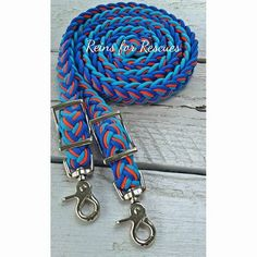 """Sammy's Sunrise"" adjustable riding reins is part of Reins for Rescues' exclusive line of products designed and named by fellow rescuers and us for our special rescues. Sammy's story appears below. Hi"