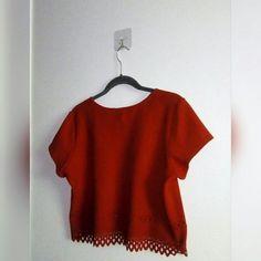 59ec59d72a0f RED CROP TOP • Love lazer crop top - Lava red • Large - In -. Depop