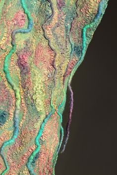 Nuno Felted Scarf | Superfine Australian merino wool, silk f… | Flickr
