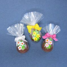Dollhouse miniature food three chocolate Easter eggs for the dolls house. $10.50, via Etsy.