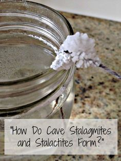 Very cool science experiment for kids - with only one ingredient!! Cave stalactites and stalagmites science experiment