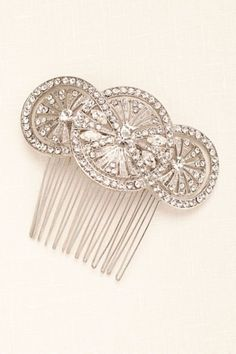 Truly Zac Posen Art Deco Hair Comb exclusively at David's Bridal.
