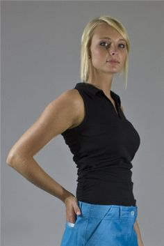 Wear to Win Shirts - Slimming Ruched Black Onyx.  Buy it @ ReadyGolf.com Womens Golf Shirts, Ladies Golf, Black Onyx, Basic Tank Top, Slim, Tank Tops, How To Wear, Style, Fashion