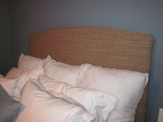 The Murphy's: DIY Seagrass Headboard Beach Headboard, Seagrass Headboard, Room Ideas Bedroom, Home Decor Bedroom, Diy Headboards, Florida Home, Cozy House, Sabbatical, Diy Furniture