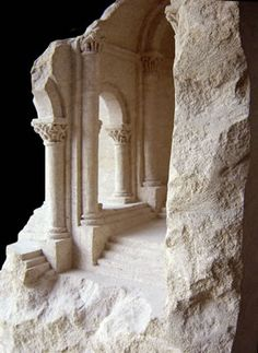 Romanesque Stone 2003 sandstone, 38 X 38 X 73cm             Mater Materia, Florida International University, Miami, USA
