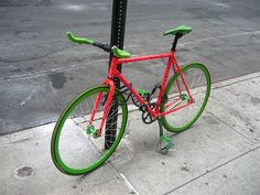 Watermelon bicycle....now that would be cool!!!