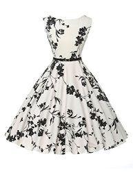 Chic Vintage années 50 's Style Audrey Hepburn Rockabilly Swing robe de fête de pique-nique –  – M