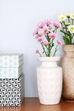 MY ATTIC SHOP / vintage West Germany vase / flowers  www.entermyattic.com