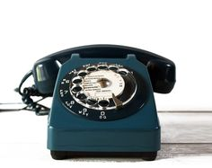 Original PETROL BLUE  French Phone of the 70 - 80 s