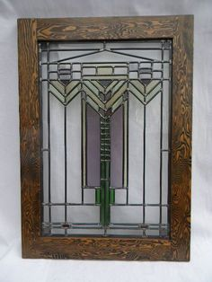 Craftsman Stained Glass Window by charlesartglass on Etsy
