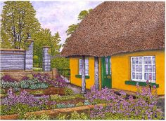 Yellow Cottage by Thelma Winter