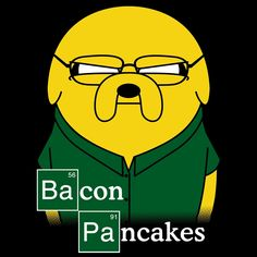 Adventure Time Jake The Dog Cartoon Network, Pancakes And Bacon, Bacon Pancake, Land Of Ooo, Finn The Human, Jake The Dogs, Fanart, Bubbline, Adventure Time Art