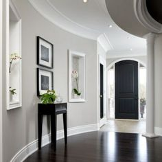 74 What You Should Do To Find Out About Gray Bedroom Walls Dark Furniture Paint Colors Before Youre Left Behind 46 - - Hallway Paint Colors, Bedroom Paint Colors, Living Room Colors, Living Room Grey, Wall Colours, Paint Colours, Wall Paper Decor, Hallway Wall Decor, Hallway Walls