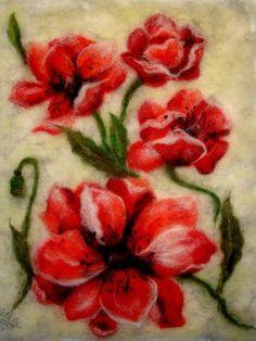 Картина из шерсти -  Маковница