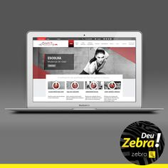 Site OnFit! Deu Zebra. #Zebra #cartão #identidade #visual #publicidade #mkt #marketing #cores #propaganda #comunicação #agência #DeuZebra #job #site
