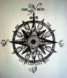 Compass tattoo  or decal for the trailer... or both....