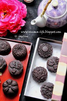 巧克力烤皮月饼(Chocolate Moon Cakes)
