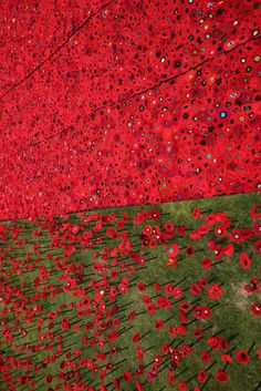 A Field of Crocheted Poppies Takes Over the Chelsea Flower Show Band Of Brothers, Chelsea Flower Show, Covent Garden, London Travel, East London, Handmade Flowers, London England, Installation Art, Night Life