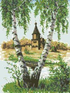 Замки и храмы - Пейзажи и здания - Схемы вышивки - Иголка