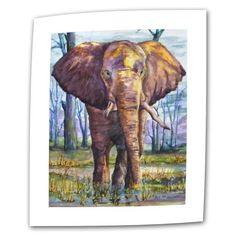 Art Wall Elephant by Dan McDonnell Flat/Rolled Canvas Art with 2-Inch Accent Border, 18 by 24-Inch by Art Wall, http://www.amazon.com/dp/B00B2LHCRU/ref=cm_sw_r_pi_dp_fcBvsb13K99ZK