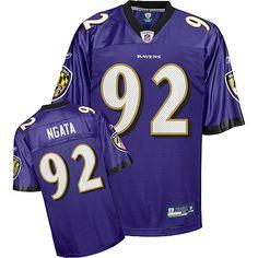 Reebok Baltimore Ravens Haloti Ngata 92 Purple Authentic Jerseys Sale