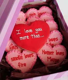 """Valentine's Day Gift for Your Hard-To-Shop-For Guy: """"I Love You More Than..."""" Cookies Inspired by Pretty Frenemy's photo"""