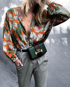 Prada Cahier Bag in dark green