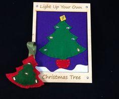 LED Christmas Tree Ornament Using Conductive Thread