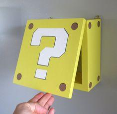 Super Mario Bros Shelf Shadow Box Block Shelf by SpeakGeek