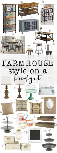 Love the farmhouse look but on a budget?  Check out all these amazing finds for incredible prices.  Most pieces are under $160 and very highly rated!!  Check out all the details.