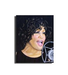Whitney Houston  painting in oilfamous by OilpaintingsChrista, $380.00