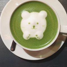 Love this adorable matcha bear  #matchalatte www.zengreentea.com.au #matcha #superfood