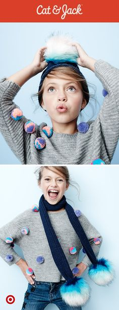 Let girls make every look their own with Cat & Jack's winter wonderland-inspired accessories.