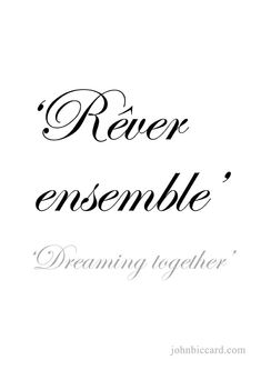♔ 'Dreaming together.'