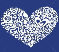 Swirly Heart Vector Silhouette Design Element by blue67 - Stock Vector