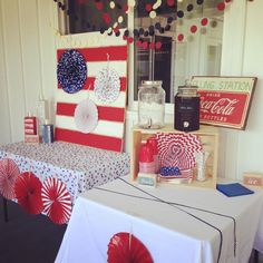Party prep complete!.......Now bring on the fun. Happy 4th of July!! @DIY #partyplanning #fourthofjuly #4thofjuly