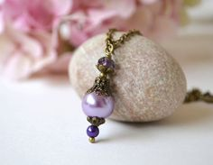 Items similar to SALE Off Purple lavender bridesmaid necklace, pearl drop pendant beadwork wedding fall wedding Lariat Statement bridal, set of 3 4 5 6 7 on Etsy Lavender Bridesmaid, Wedding Bridesmaids, Pearl Earrings, Drop Earrings, Fall Wedding, Bridal, Pendant, Purple, Etsy
