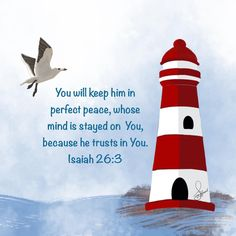 The best decision you will ever make in your life is to trust God. Make a decision to trust Him in everything. You will never regret it! . . . #red lighthouse #bibleverse #jesus #jesuschrist #quoteoftheday #uplifting #art #artistsoninstagram #artist #nauticaldecor #christianart #christiangift