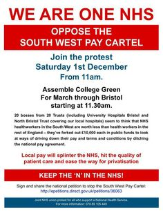 "Keep the ""N"" in NHS - protest 1st December, Bristol"