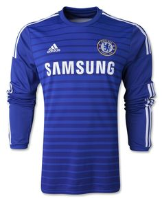 Chelsea FC adidas Official Blue Home Mens Long Sleeve Soccer Jersey