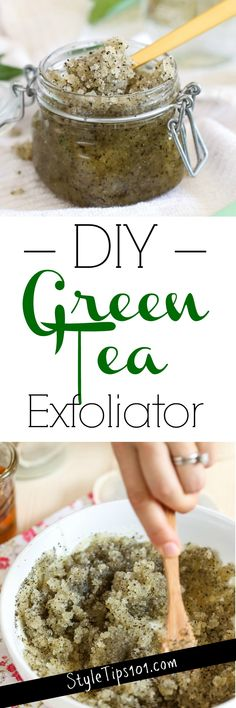 DIY Green Tea Exfoliator