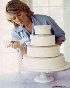 Wedding Cake How to Make a Stacked Buttercream Cake - Martha Stewart Weddings Cakes (cake frosting tips martha stewart) Buttercream Wedding Cake, Wedding Cakes With Cupcakes, Cool Wedding Cakes, Cupcake Cakes, Car Cakes, Diy Wedding, Wedding Ideas, Cake Frosting Tips, Cake Piping