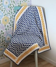 Crochet Afghans Design Ravelry: One Step Beyond Blanket pattern by Martin Up North Crochet Home, Crochet Baby, Free Crochet, Knit Crochet, Ravelry Crochet, Chrochet, Crochet Afghans, Crochet Blankets, Baby Afghans
