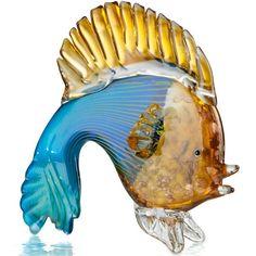 Blue Fish Art Glass Figurine By Lenox