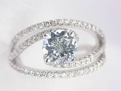 A beautiful, stunning and unique engagement ring.